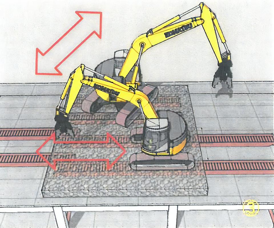 不要なガラを集積すれば横移動・縦移動も縦横無尽に行えます